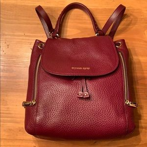 Michael Kors large leather backpack